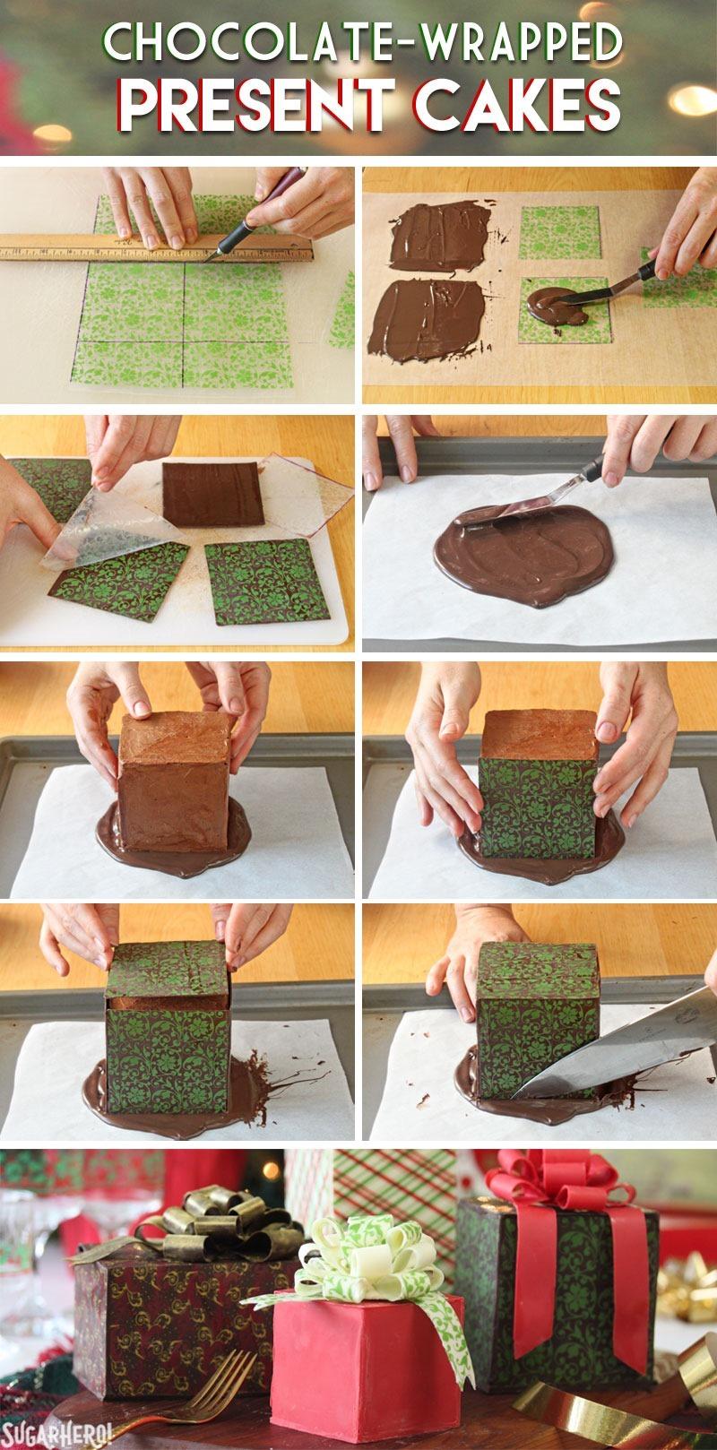 Cómo hacer pasteles de regalo envueltos en chocolate »Wiki Ùtil De SugarHero.com