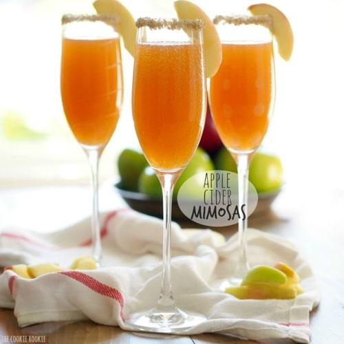 Mimosas de Sidra de Manzana | El novato de las galletas