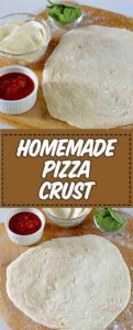 corteza de pizza casera en un plato