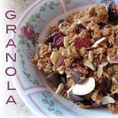 Receta casera de granola