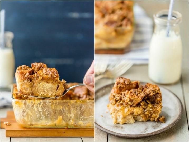 ¡PUDIN DE PAN DE MANZANA DE CARAMELO! ¡Perfecto para el postre o incluso el desayuno! Al igual que una receta de cazuela de tostadas francesas con tarta de manzana, pero más deliciosa, pegajosa y deliciosa. Genial con helado de vainilla!