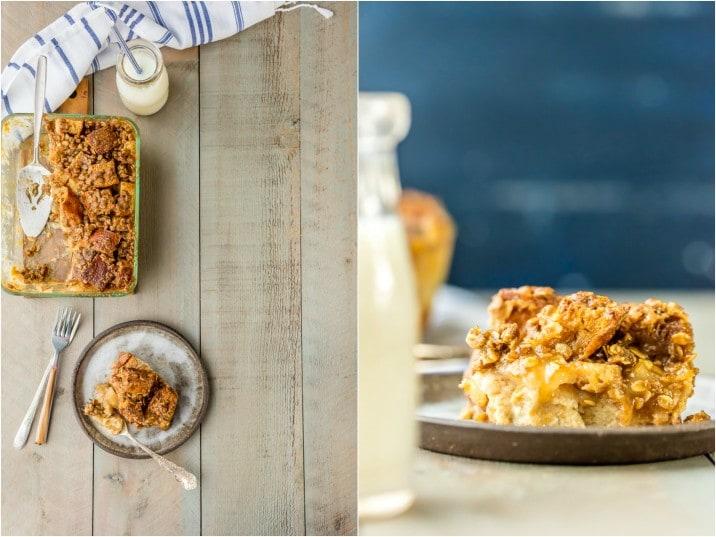 ¡PUDIN DE PAN DE MANZANA DE CARAMELO! ¡Perfecto para el postre o incluso el desayuno! Al igual que una receta de cazuela de tostadas francesas con tarta de manzana, ¡pero más deliciosa, pegajosa y deliciosa! Genial con helado de vainilla!