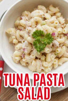 imagen de pin de ensalada de pasta de atún
