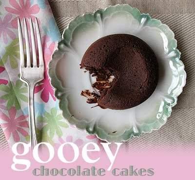 Pasteles de chocolate pegajosos