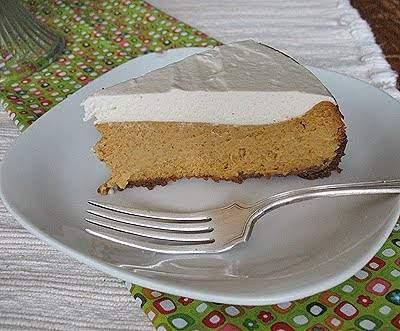 Cheesecake de calabaza con cobertura batida de ron