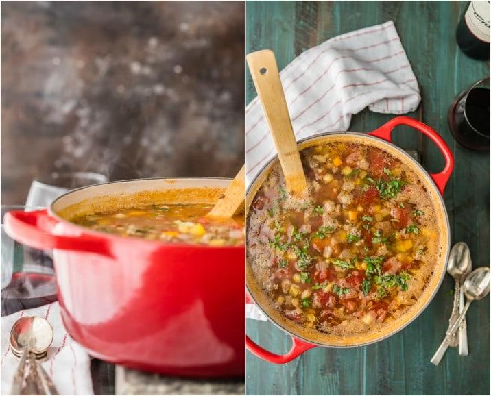 Copycat Carrabba's Sausage and Lentil Soup ... ¡su comida favorita en el restaurante es fácil de hacer en casa! Esta sopa es una FÁCIL RECETA y puedes congelarla