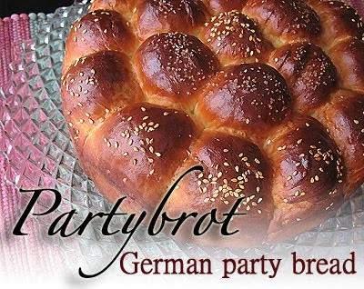 Partybrot - pan de fiesta alemán