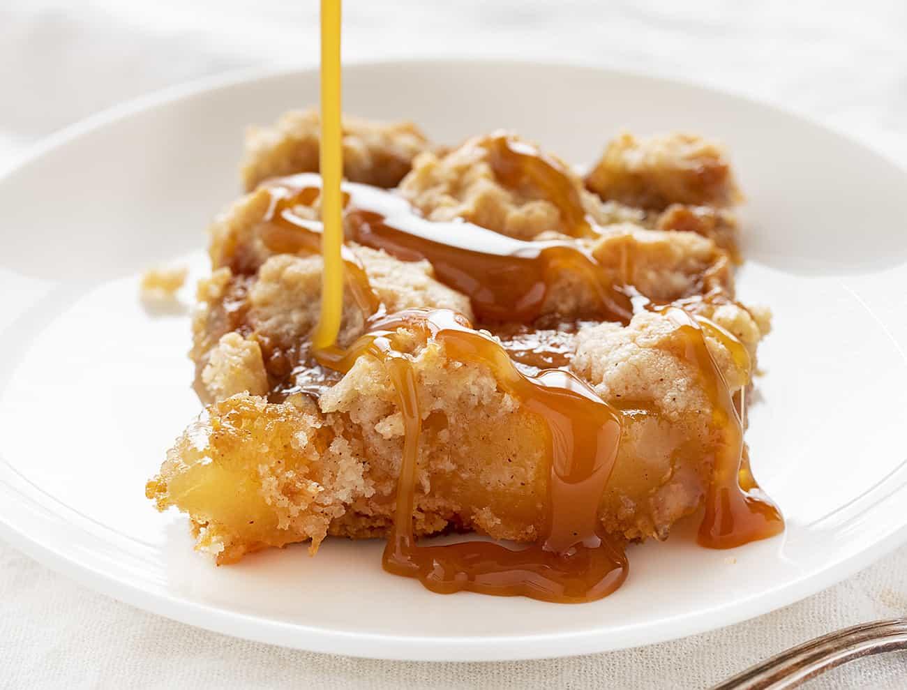 Pastel de manzana y caramelo