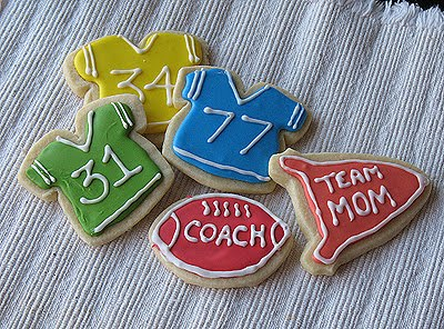 Cookies de Jersey de fútbol, Royal Icing y Division Champs