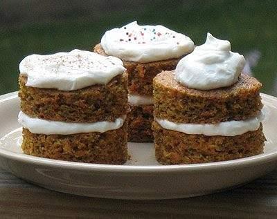 Torres de pastel de zanahoria: aptos para diabéticos
