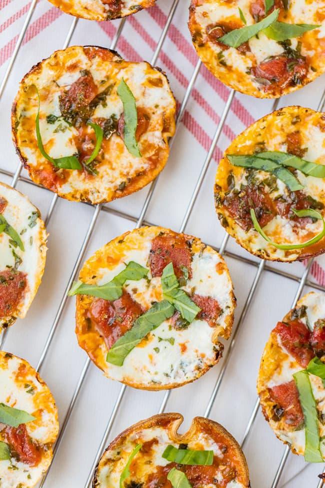 Mini Pizzas Margarita | El novato de las galletas