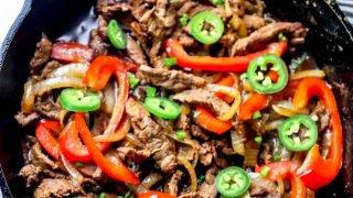 Receta One Pot Steak Fajitas