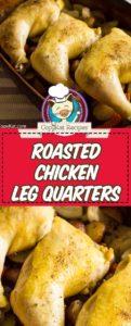 cuartos de pierna de pollo al horno