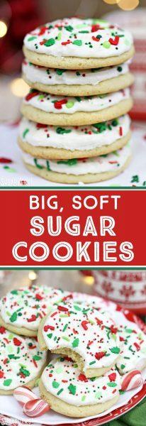 Grandes galletas de azúcar blandas | De SugarHero.com