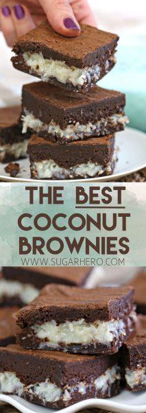 Los mejores brownies de coco | De SugarHero.com