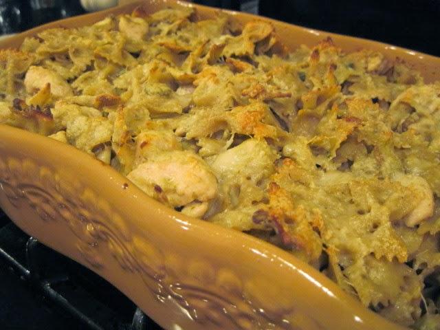 Receta de pasta cremosa de pollo y alcachofa