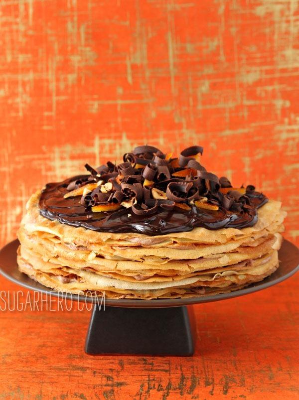 Pastel de Crepe Nutella | SugarHero.com