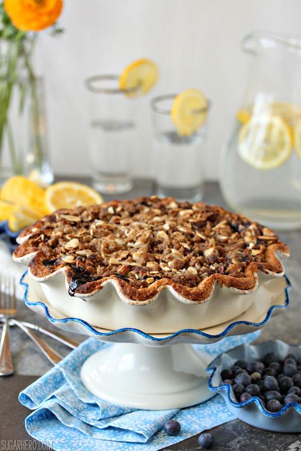 Blueberry Crumble Pie   De SugarHero.com