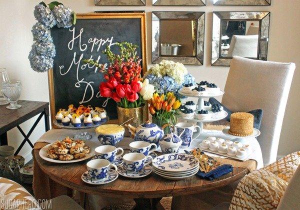 Fiesta del té del día de la madre   SugarHero.com