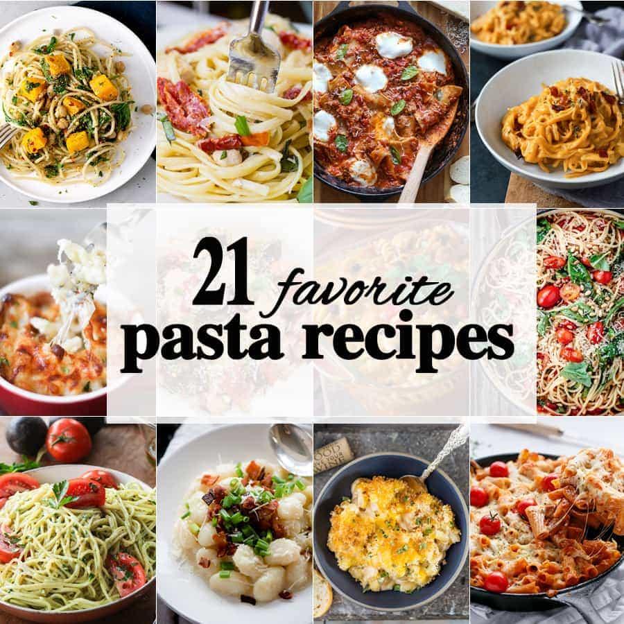 21 recetas de pasta favoritas