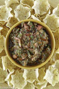 chips de salsa y tortilla