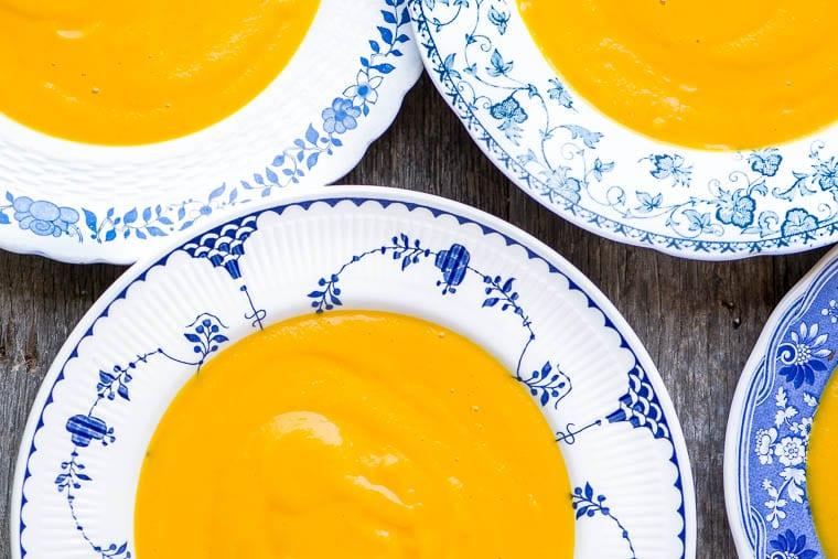 Sopa de zanahoria con jengibre y lima