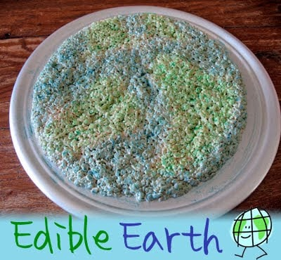 Tierra comestible: Rice Krispy Treats para el Día de la Tierra