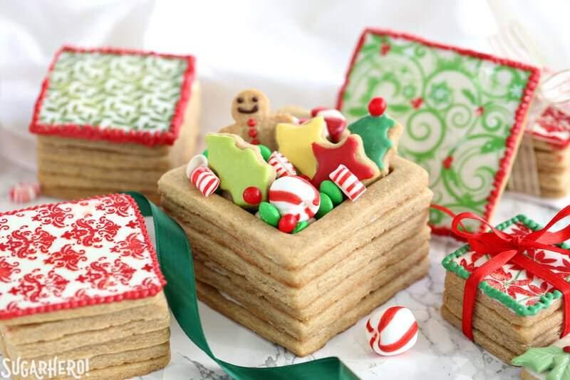 Cajas de galletas de regalo de navidad