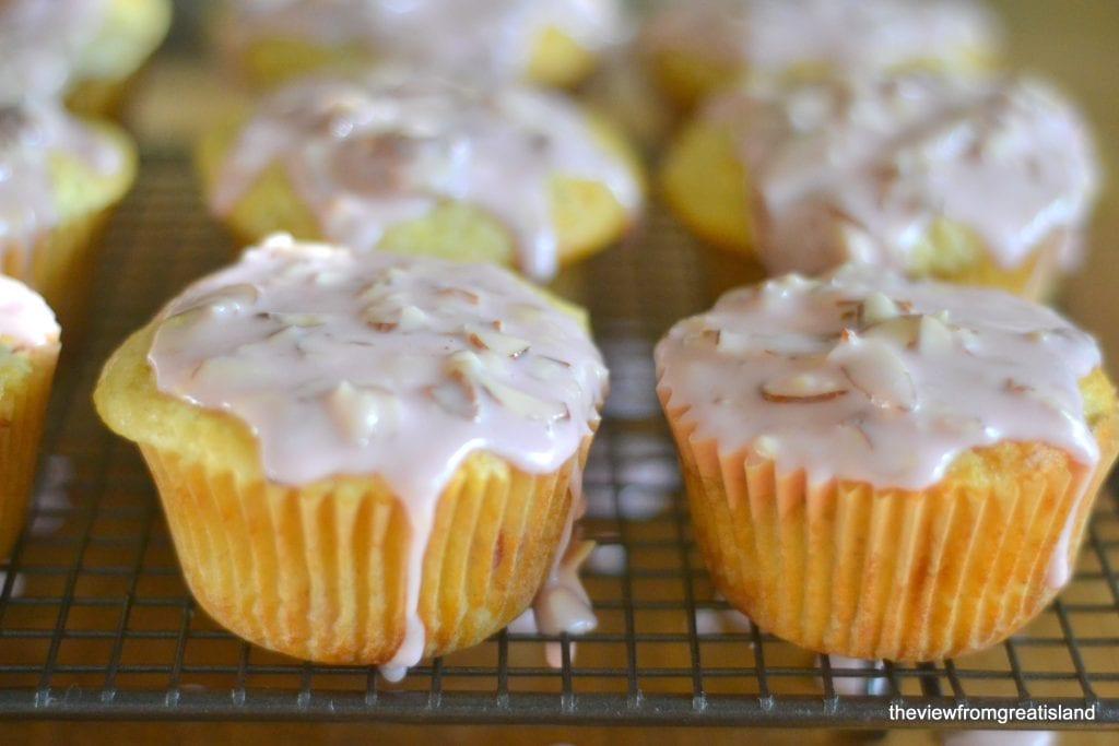 Muffins de cereza y almendras Ranier