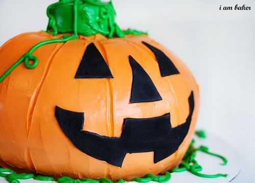 Pastel de calabaza de Halloween {Sorpresa dentro del pastel}