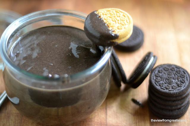 mantequilla de maní hecha con galletas Oreo