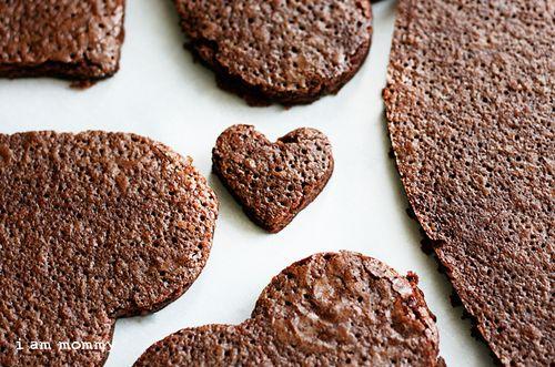 ¡Pizzas Brownie en forma de corazón!