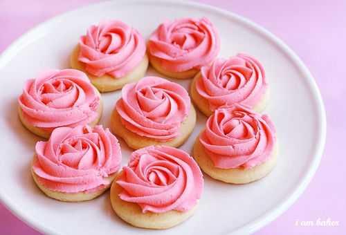 galleta rosa