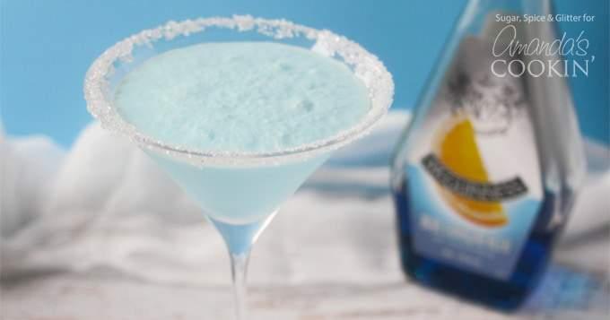 Martini congelado mezclado