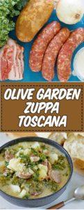 un cuenco de imitador Olive Garden Zuppa Toscana