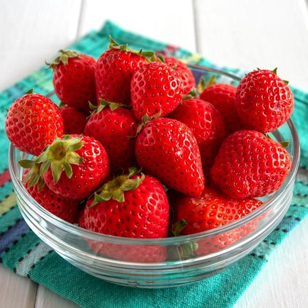 Tazón de fresas para Fresas con Crema