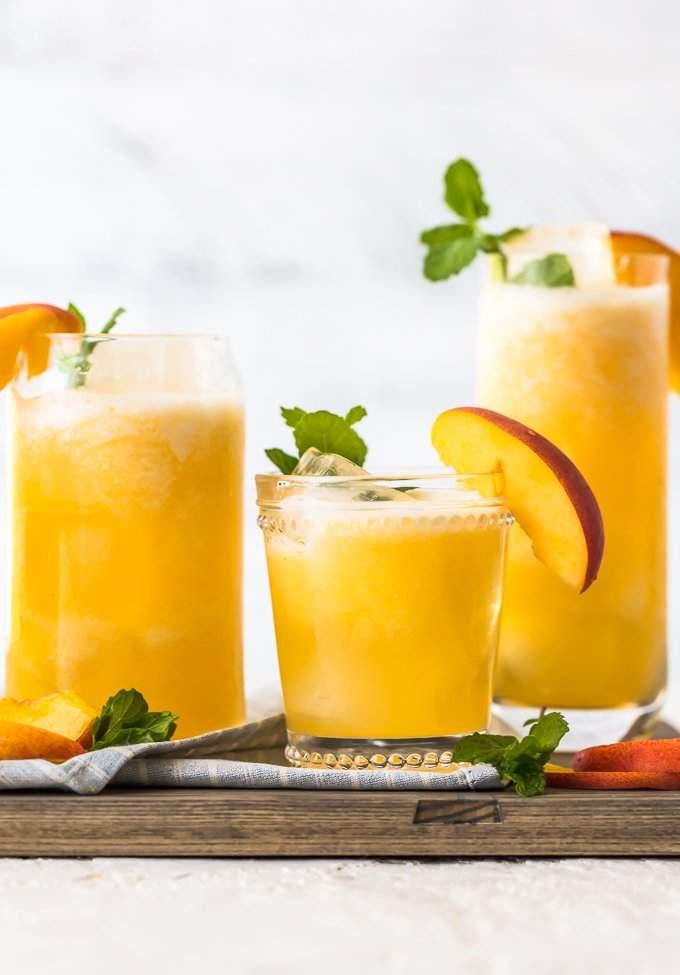 Limonada De Durazno Cóctel De Durazno O Sin Alcohol