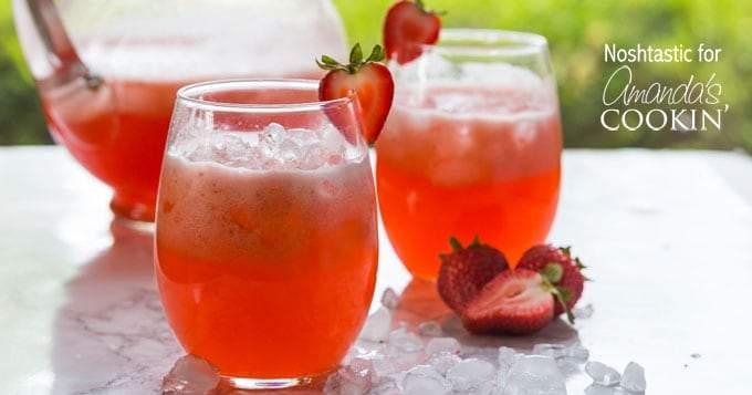 Limonada fácil de fresa