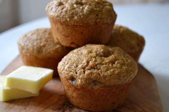 Muffins de salvado de suero de leche