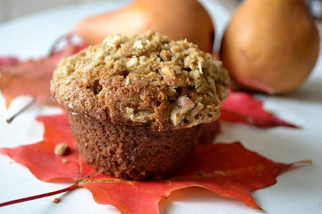 Muffins de vainilla y pera con especias y vainilla