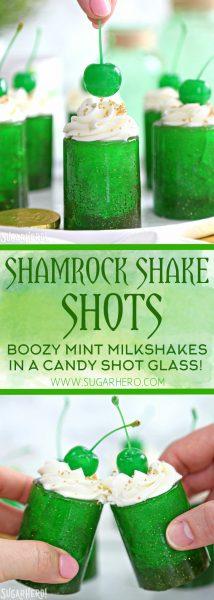 Shamrock Shake Shots | De SugarHero.com