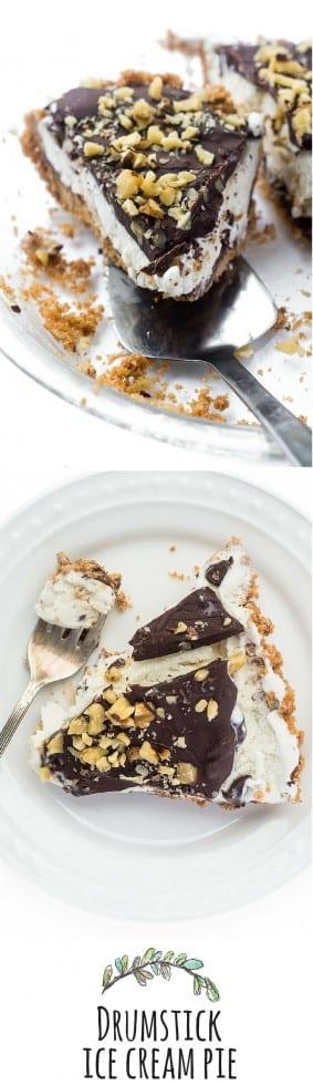 Drumstick Ice Cream Pie está inspirado en una de las delicias más memorables del verano: ¡es un postre fácil sin hornear que cautiva a todos!