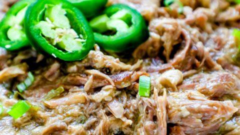 Receta de carnitas de cerdo con chile verde