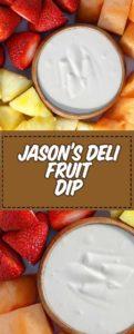 fruta fresca cortada y salsa de fruta casera