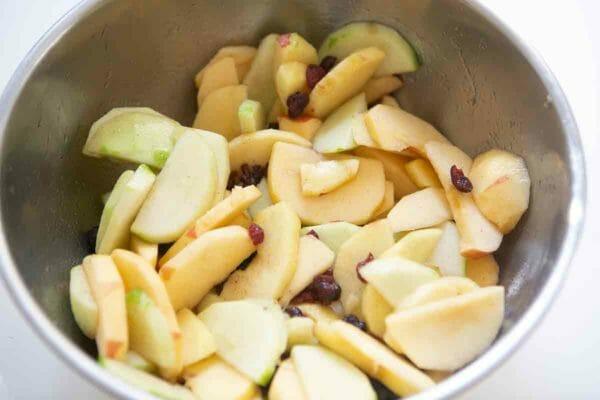 hacer relleno de manzana y arándano para pastel