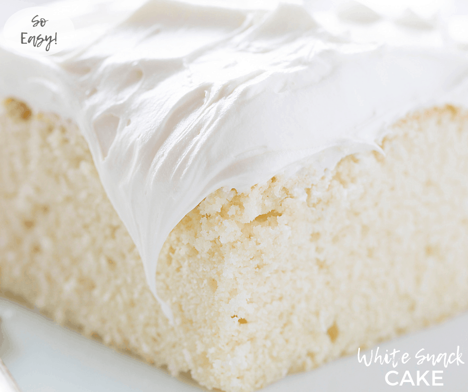 Receta de pastel blanco