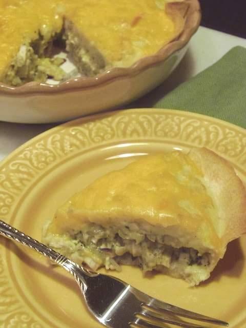 Receta rápida y fácil de pastel de quesadilla de pollo