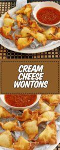 Wontons de queso crema frito