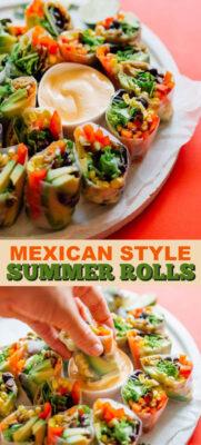 Imagen de pin de rollos de verano de estilo mexicano