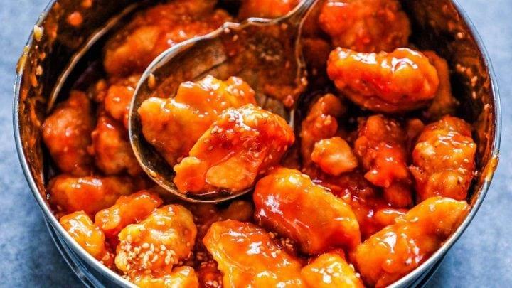 Receta instantánea de pollo y arroz agridulce
